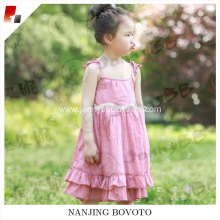 wholesale sleeveless cotton fabric toddler dress
