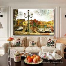Pintura de paisaje abstracta de Venecia