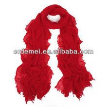 Женщины один цвет креп вискозный шарф