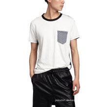 Männer Hip Hop Kontrastkragen Jersey T-Shirt