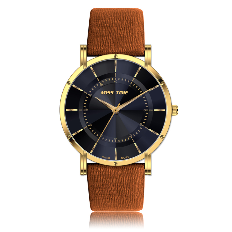 wholesale factory dial faces leather band watch