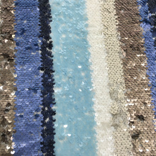 3mm Multicolor Sequin Haft Fabric na lato
