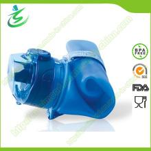 Silicona plegable botella de agua suave, deportes botella de silicona