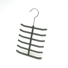 Cabide de gravata de veludo, flocado cachecóis do gancho, gancho plástico venda quente