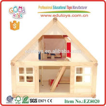 2015 Hot Sale In USA Beautiful Wooden Villa Toys Wooden Mini House Toys For Girls