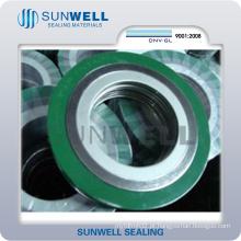 Junta espiral de ferida, anel de vedação, junta de anel interno e externo