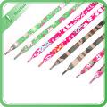 Benutzerdefinierte hohe Qualität Stoff Polyester Schnürsenkel gedruckt Ihr Logo