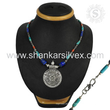 Collier en argent et bijoux en argent sterling avec bijoux en argent sterling