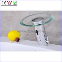 Torneira infravermelho automático do sensor da cachoeira de vidro do bico (QH0109A)