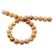 14 мм Loose природных картина Джаспер круглые бусины из камня для изготовления ювелирных изделий
