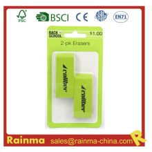 2-Pack Jumbo Green Eraser for Office