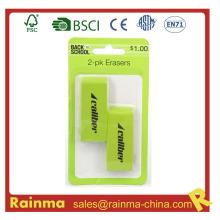 2-Pack Jumbo Green Eraser para Oficina