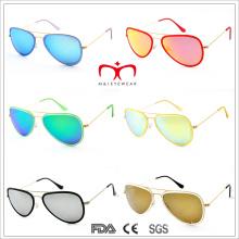2015 style de mode plus récent et lunettes de soleil en métal coloré (MI203)