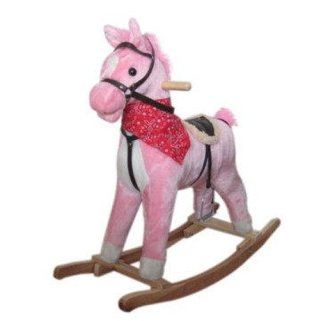PriceList for Best Plush Rocking Horses, Animal Rocking Horses, Baby Plush Rocking Horse, Plush Motorized Animal Manufacturer in China Baby rocking horse LXRH-012 export to Maldives Supplier