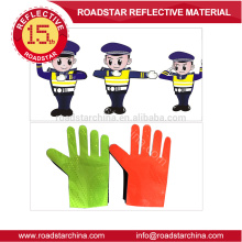 Prismatic pvc film traffic reflective glove