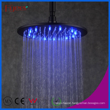 Fyeer Manufacturer Black Round Shower Head with 3 Color LED