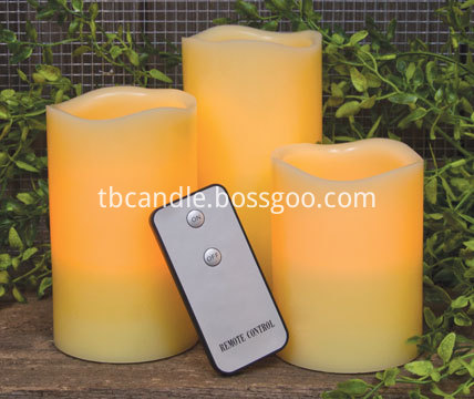 elegant LED candle set