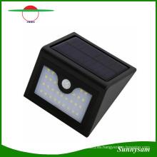 Nuevo 28 LED de luz solar al aire libre Sensor de movimiento infrarrojo lámpara de pared a prueba de agua de seguridad inteligente Sensor de luz LED