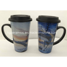 Tasse imprimée décorative 16 oz, tasse pleine impression