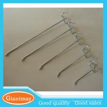 стандартный одноместный зубец используется металлическая вешалка провода дисплей pegboard крючки
