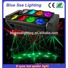 Levou luz de cabeça pequena movendo / luz da aranha do diodo emissor de luz / conduziu a luz principal do feixe do rgbw da cabeça