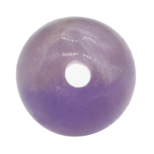 18mm Large Hole Natural Amethyst Balls