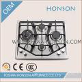 Table de cuisson à gaz intégrée européenne 4 brûleurs en acier inoxydable