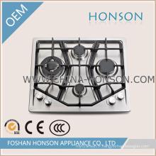 Le plus nouveau design intégré en fonte cuisinière à gaz cuisinière à gaz
