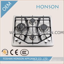 European Built in Gas Hob 4 Burners Stainless Steel