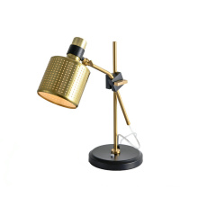 Wholesale bedroom desk lamp nordic living room gold simple minimalist reading lighting hotel modern led bedside table lamp