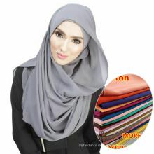 Heiße verkaufende whosale Frauen tragen einfachen Islam muslimischen Schal Chiffon Hijab