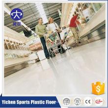 Suelo de vinilo comercial interior homogéneo del PVC
