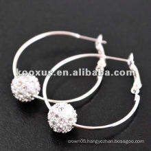 sparkle shamballa earring , crystal pave earring , bling earrings