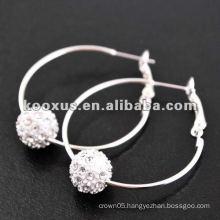 sparkle shamballa earring , crystal pave earring , bling earrings