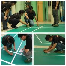 Indoor Synthetic Badminton Shuttle Court Green Flooring Mat
