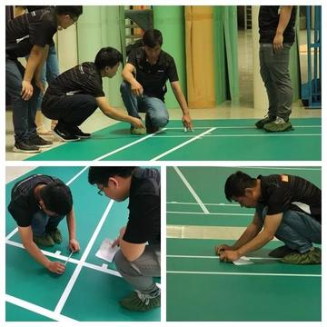 Indoor Bulutangkis Bulutangkis Shuttle Court Green Flooring Mat