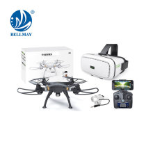 2.4 GHz 3D VR Glasses RC Drone Gravity Sensor Hexacopter with HD Camera Drone FPV Real Time Transmission Optional