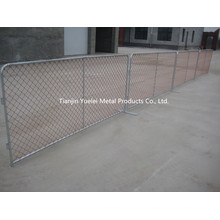 Clôture temporaire utilisée pour la barrière / Construction temporaire Clôture de la chaîne / Chine Feuille métallique Fermeture temporaire