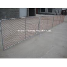 Vedação Temporária Usada para Barreira / Construção Temporária Vedação de Cadeia / Fachada Temporária de Metal Sheet