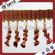Moustiquaire en dentelle en perles en dentelle pour textile domestique