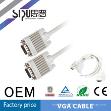 SIPU factory price wholesale flexible 15pin computer cable high quality 3+4 vga cable