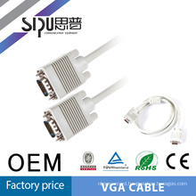 SIPU high quality long vga cable spec 10 meters VGA cable 3+4