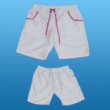 Yj-3018 Mulheres Meninas Ladies White Shorts Calças curtas para as Mulheres