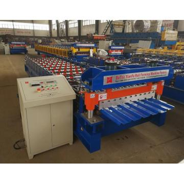 Atap genteng Cold Trapezoid Roof Sheet Rolling Machine