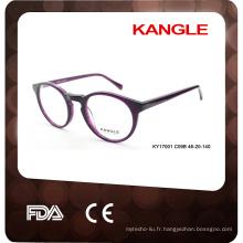 Cadre de lunettes de sécurité Acetate vente chaude avec certificat