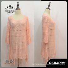 Women Custom Fringe Hem Dress