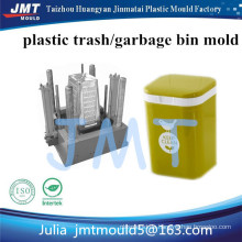 Household use Plastic Colored Waste Bin; Rose Red Trash Can