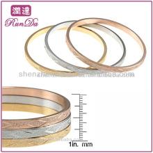 Nouveau produit pour 2013 en acier inoxydable tri-couleur conçu Bangle Set bijoux en or