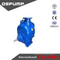 dirty water pump diesel engine drive self-priming trailer sewage pump unit
