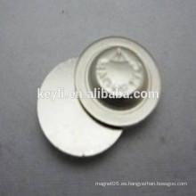 Botón redondo magnético